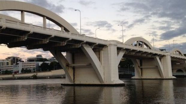 Police are searching the Brisbane River after a man was last seen jumping off the William Jolly Bridge.