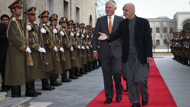 Mr Turnbull is welcomed Dr Ghani.