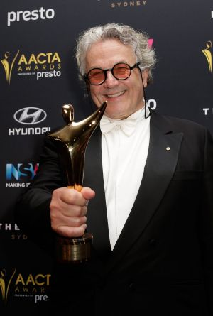 George Miller with the AACTA Award for Best Film.