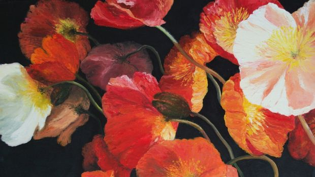 Poppy Pandemonium. Jan Matson. Ginninderra School House Gallery.