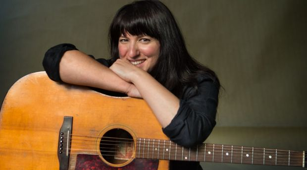 Songwriter Tracy McNeil with her Gibson.