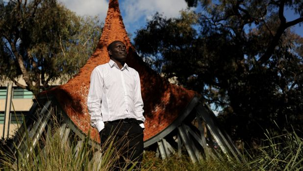 Sudanese refugee Atem Atem, pictured in 2012, has lived in Canberra for a decade.