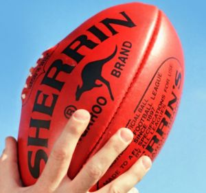 The Sherrin football is made the family-owned Tullamarine plant.