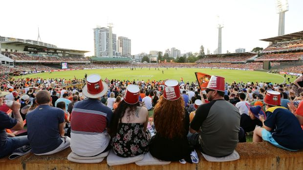 Fans flock: The Big Bash League has brought families through the gate and rated highly on TV this summer.
