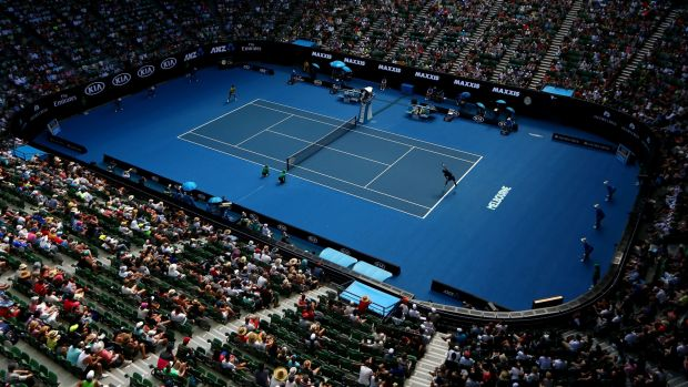 The Australian Open on Monday looked like a good place.