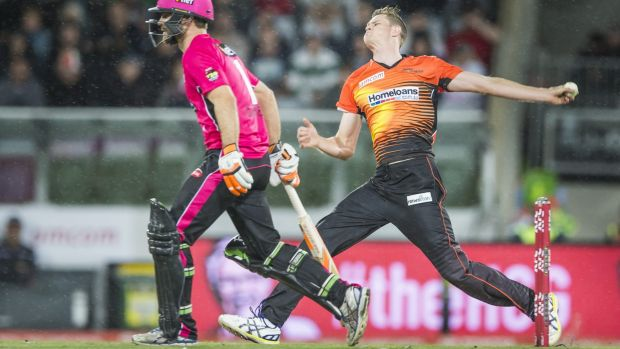 Waiting game: Perth Scorchers fast bowler Jason Behrendorff is having scans on his troublesome back this week.