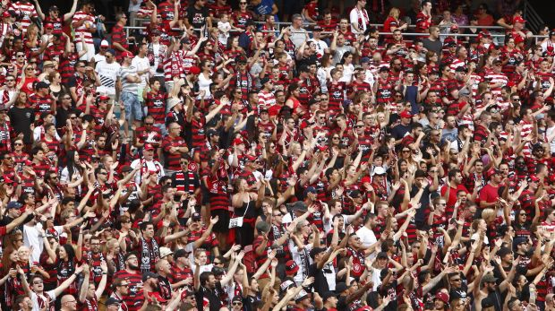 Loud and active: The Wanderers want to have standing room for their fans in the new stadium.