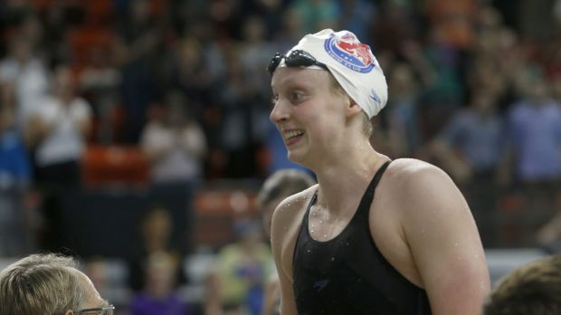 New challenge: Katie Ledecky could next appear as a 100m sprinter.