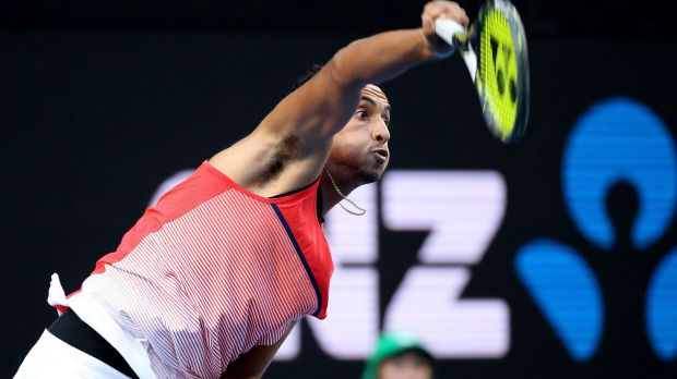 Nick Kyrgios can set up a third-round clash with Tomas Berdych.