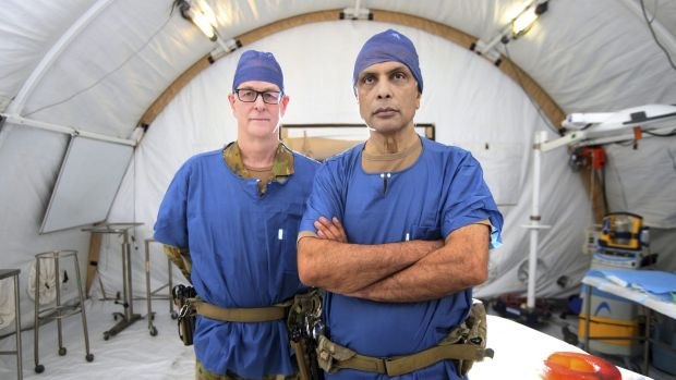 General surgeon and burns specialist Michael Rudd and orthopedic surgeon Major Jay Dave are both based at the medical ...