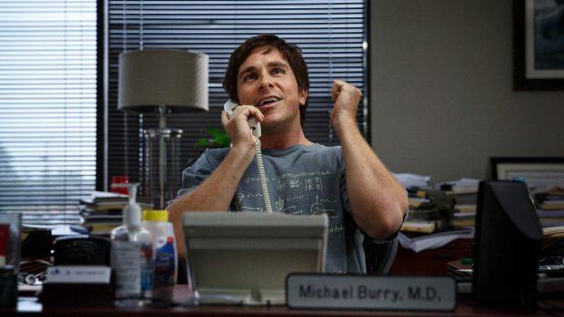 Christian Bale plays Michael Burry in <i>The Big Short</i>, which casts some of Hollywood's biggest names.
