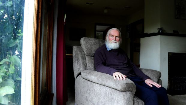 David Walker at his home in Ainslie after the attack in April.