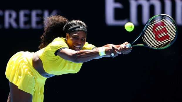 Serena Williams gave neutral colours the backhand.