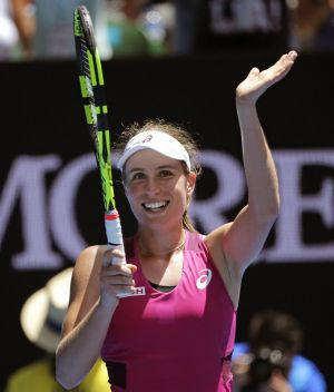 All smilies: Brit Johanna Konta.