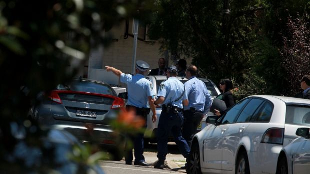 Police at Quakers Hill after the fatal shooting