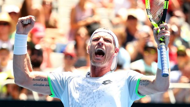 Banana-slip opportunity: Sam Groth will face French Open legend Rafael Nadal in the first round, but the 14-time Grand ...