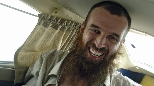 Nigel Brennan shortly after his release following 15 months as a hostage.