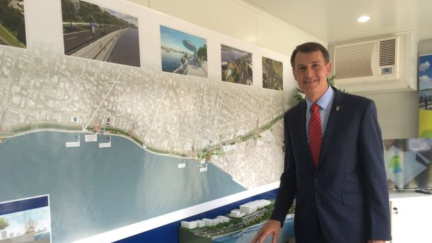 Lord Mayor Graham Quirk at the new Kingsford Smith Drive visitors' information centre.
