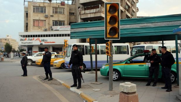 Iraqi security forces deploy in Baghdad, Iraq on Monday.