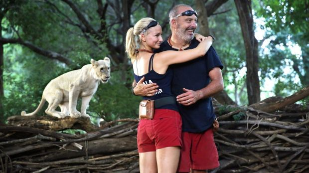 Andrew Daddo and Anna Heinrich from the last season of <i>I'm a Celebrity ... Get Me Out of Here</i>.