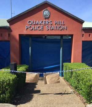 Quakers Hill police station remained closed on Wednesday.