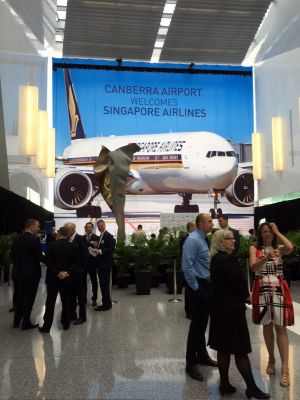 Singapore Airlines is announcing on Wednesday international flights to and from Canberra.