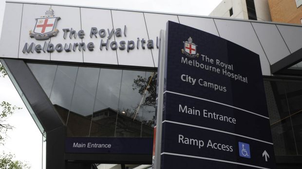 The Royal Melbourne Hospital was hit by a computer virus on Monday.