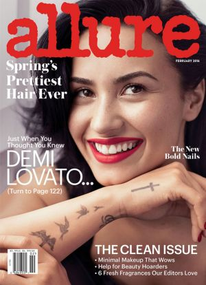 Demi Lovato on the cover of Allure. Lovato says she made the decision to go public with her mental health struggles ...