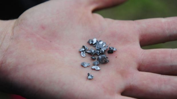 Fragments from the bullet that was fired into a Queanbeyan home.