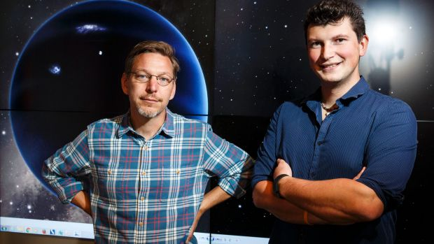 Mike Brown, professor of planetary astronomy, and Konstantin Batygin, assistant professor of planetary science, at the ...