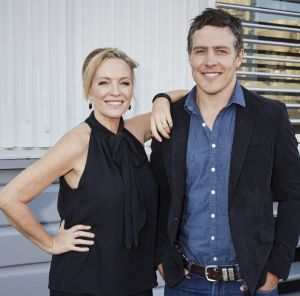 Wanted co-stars Rebecca Gibney and Steve Peacocke.