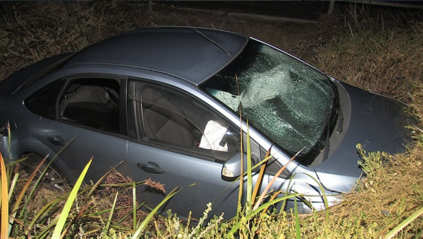 Teenage mother crashed while drink-driving with her baby on her lap, police allege.