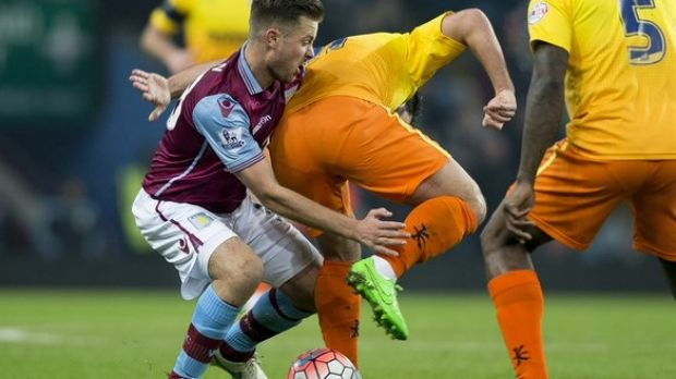 Up and comer: Lyden in action in the FA Cup.