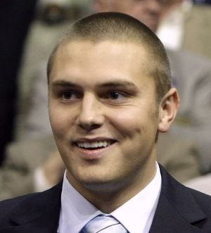 Track Palin, son of then Alaska governor Sarah Palin,   at the Republican National Convention in 2008.
