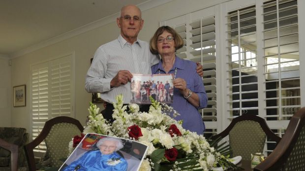 The son and daughter of recently deceased 108-year-old Gwendoline Brooks Smith, Michael Smith and Clare Reeves, at ...