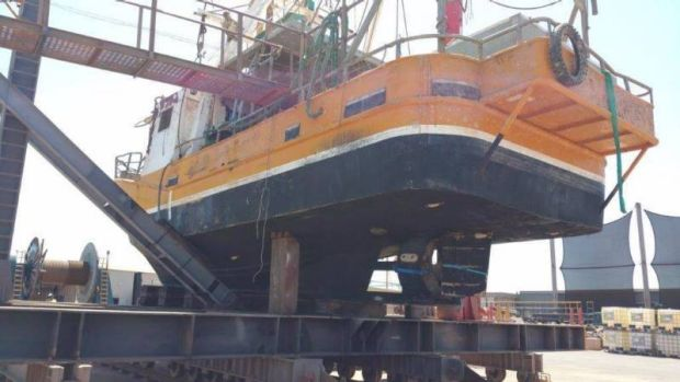 The Returner is currently sitting on the dock in Dampier, Western Australia.