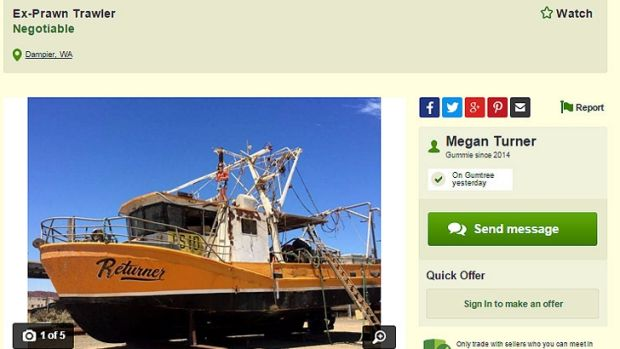 The owners of the prawn trawler Returner are desperately looking for someone to take the vessel.