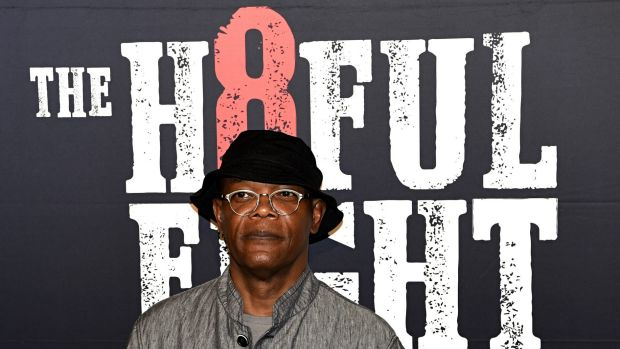 Samuel L. Jackson attended the black carpet premier of The H8ful Eight in Sydney last week.