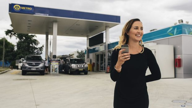 Go2 Rewards marketing manager Katey Johnstone at Metro Petroleum petrol station in Fyshwick.