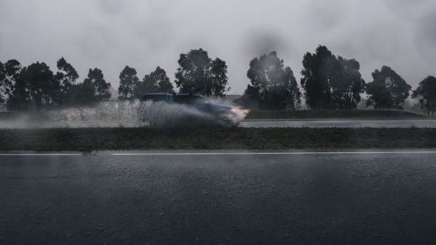 Up to 70 millimetres of rain could fall on Sunday.