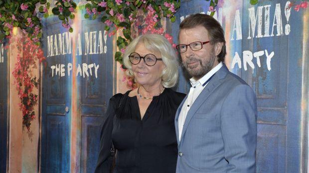 Bjorn Ulvaeus and his wife Lena Kallersjo.