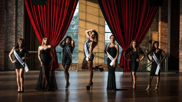 Miss Gay and Miss Transsexual Australia contestants (from left) Dee, J.O, Kristina, Honey, Talissa, Gayzha and Barbie ...