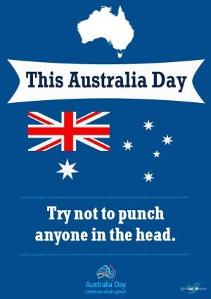 Nick Lawler's Australia Day poster has been shared over 900 times.