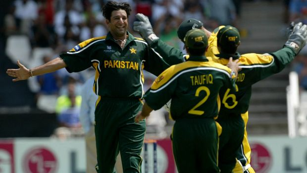 Legend: Wasim Akram led the fearsome Pakistani attack for more than 15 years.