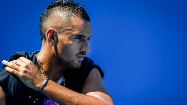 No punishment: Nick Kyrgios has escaped punishment for answering his phone on court.
