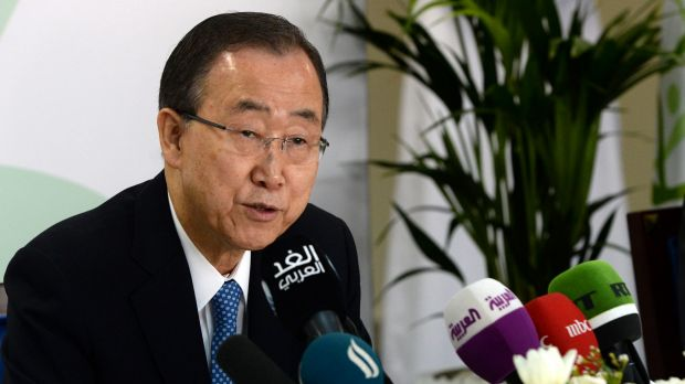 United Nations Secretary-General Ban Ki-moon  has condemned Israel's planned settlements in the West Bank.