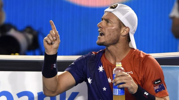 Couldn't mount a comeback ... Lleyton Hewitt was frustrated by foot fault calls during his loss to David Ferrer on Rod ...
