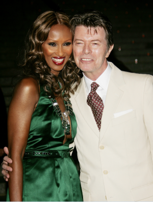 Iman and husband David Bowie arrive for the Vanity Fair 2007 Tribeca Film Festival party.