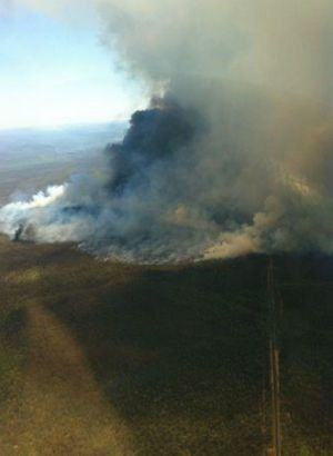 Photo from firefighting aircraft north east of Coonabarabran.