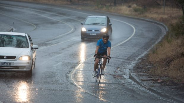 It was a wet morning commute on Friday.